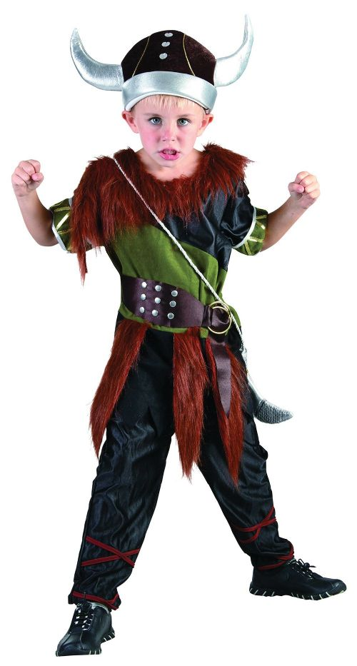 Boys Deluxe Viking Boy Costume Ancient Scandinavian Swedish Danish Fancy Dress